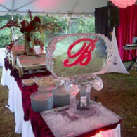 Custom Initial Ice Sculpture